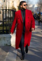 Red Overcoat Double Breasted
