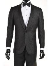 Black Velvet Paisley Suit