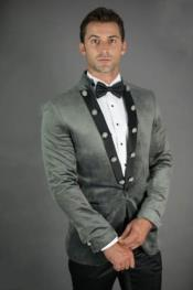 Slim Fit Grey Velvet