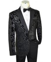 Black Sequined Velvet /