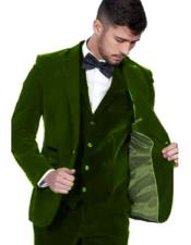 Mens Blazer Jacket Dark Green