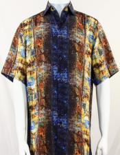 Blue Pattern Short Sleeve