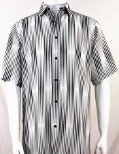 Stripes Pattern Black Short
