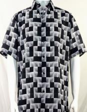 Black Dimension Squares Short