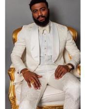 Shawl Collar Paisley Suit
