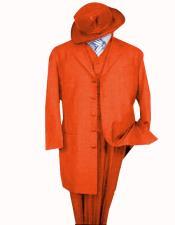ID#SP31393 Limited Edition Pre order 1920's Long Fashion suit Mens Orange Zoot Suit