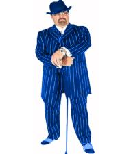 ID#KA31406 Single Breasted Notch Lapel Pimp Pinstripe Navy/White Suit Coming Sep/15/2020 Zoot Suit Pre Order Limited Collection
