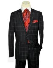 Style Mens Plaid Suit