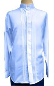 Collar Dimond Front Mandarin
