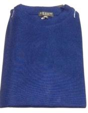 Royal Blue Pronti Shiny Short Sleeve Mock Neck