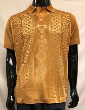 Knit Polo Bronze Shirts