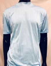 Mock Neck Shirt Stripe