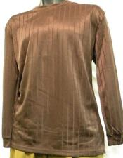 Brown Rayon Knit Short