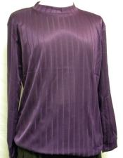 Purple Mock Neck Short