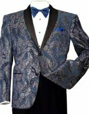 Shiny Formal Blue/Gold Sequins