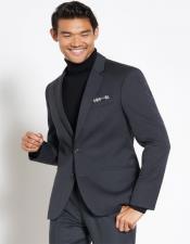 Button Black Turtleneck Suit