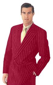 New Burgundy Pinstripe Double