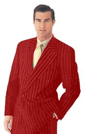 New Maroon Pinstripe Double