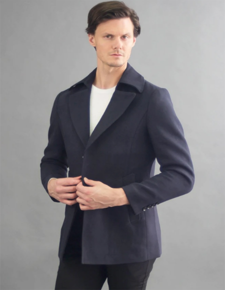 Quarter Overcoat Designer Mens