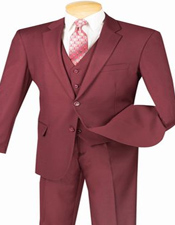 Maroon Suit 3 Piece