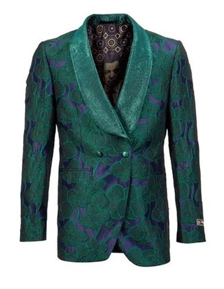 Green Shawl Lapel Tuxedo