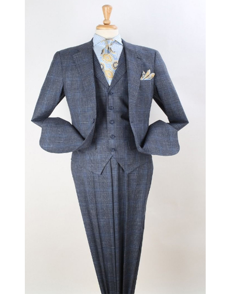 Windowpane Classic Fit Wool