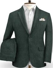 Linen Suits Green