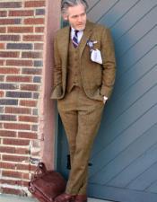 Tweed Vested Suit 20s