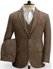 Tweed Vested Two Button