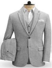 Plain Gray Fabric Herringbone