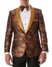 Fit Mens Orange Paisley
