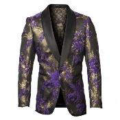 and Gold Tuxedo Jacket