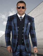 Windowpane Vested 3 Piece