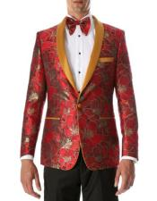 Fit Blazer mens Red