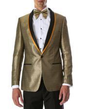 Shiny Tuxedo Blazer Jacket