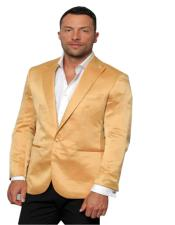 Slim Fitted Gold Satin