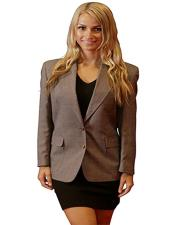 Button Notch Lapel women