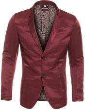 Slim Fit Burgundy Western