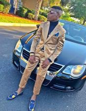 Shiny Flashy Gold Suit
