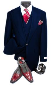 Blue Single Button Suit