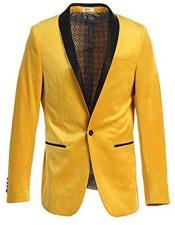 Velvet Tuxedo Blazer Slim