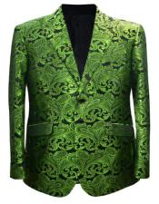 Green and Black Paisley