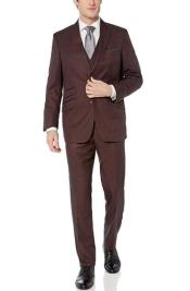 ID#KA32412 Peak Lapel Modern Fit Suits With Double Breasted Vest 3-Piece (Jacket, Vets, Trousers)