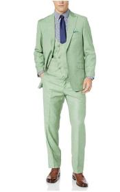 ID#KA32416 Peak Lapel Modern Fit 3-Piece Suits With Double Breasted Vest (Jacket, Vets, Trousers)