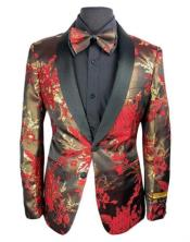 Flower Matching Bowtie Red