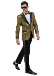 Gold One Button Suit