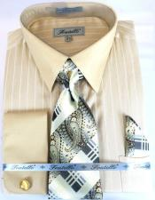 Beige Colorful Dress Shirt