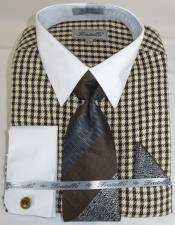 Houndstooth Colorful Mens Dress
