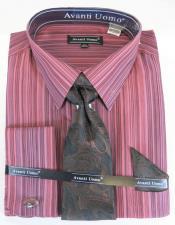 Stripe Pattern Spread Collar