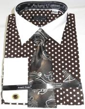 Brown Colorful Mens Dress